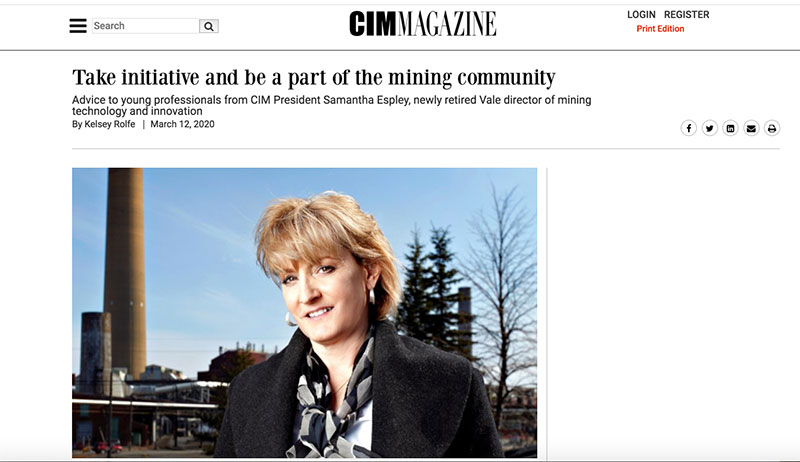Take initiative and be a part of the mining community